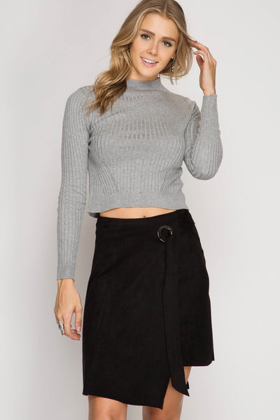 Suede Away Black Skirt