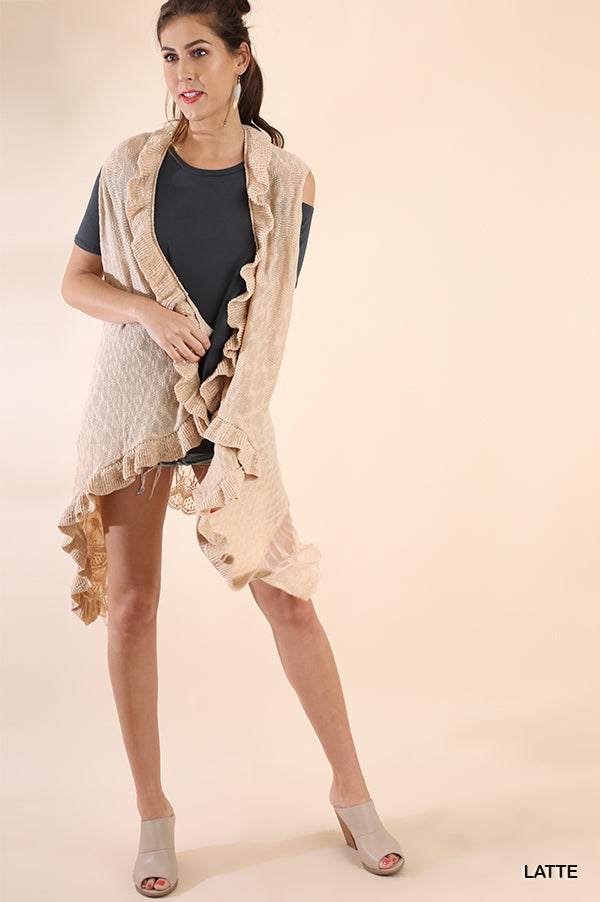 Totally Trendy in Taupe Vest