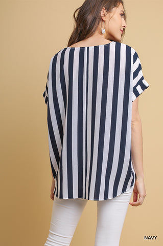 Nautical Navy Striped Top
