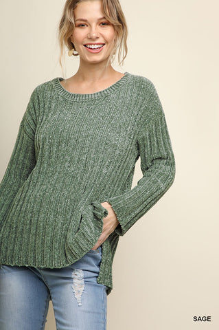 Sassy in Sage Sweater
