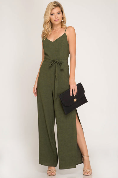 You Are Everything Olive Jumpsuit