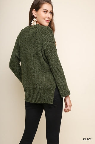 All About That Olive Sweater