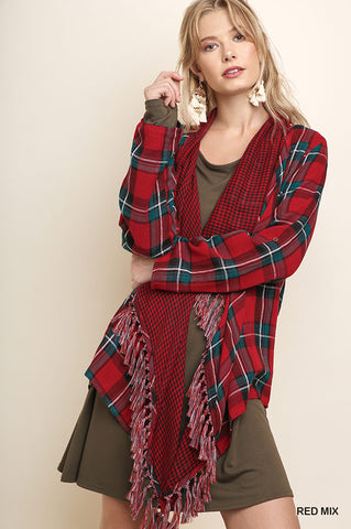 Color Me Plaid Cardigan