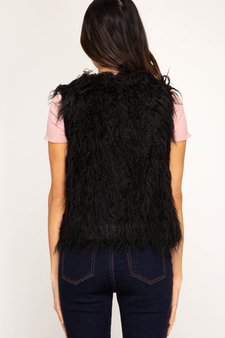 Fun In Fur Black Vest