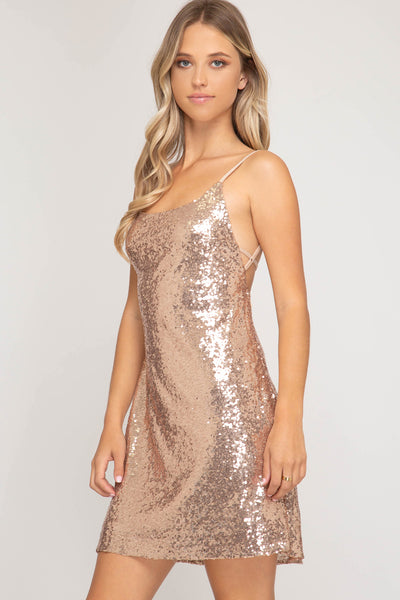 Stunning in Sequins Dress