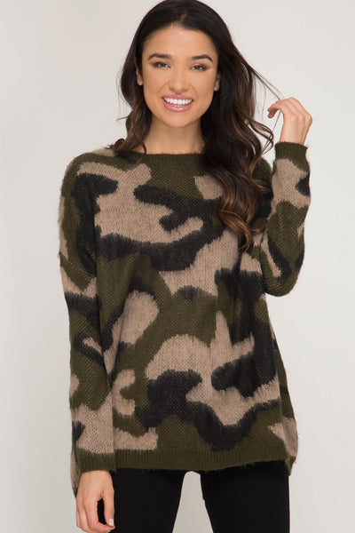 Cute In Camouflage Sweater