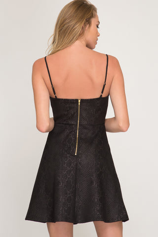 Snake and Suede Cami Dress