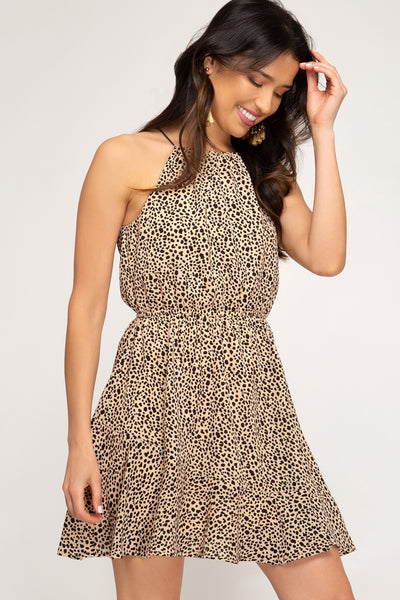 Lady in Leopard Dress