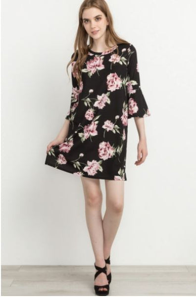 Floral Favorites Bell Sleeve Dress
