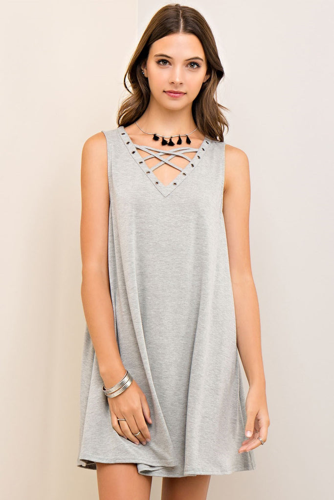 Keeping It Casual Grey Dress