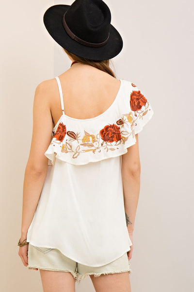 Find Me In The Festival One Shoulder Top
