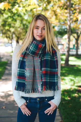 Classic Plaid Blanket Scarf Basics
