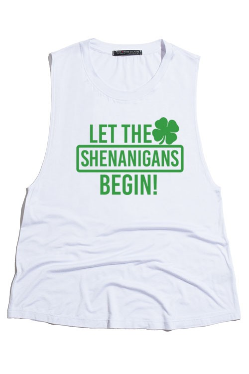 Let the Shenanigans Begin St. Patrick's Day Tank