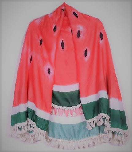 Watermelon Round Beach Towel/Cover Up