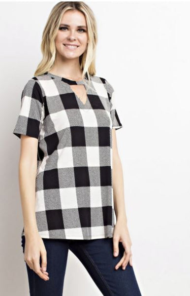 Ivory Buffalo Plaid Shirt