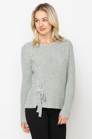 Tied With A Bow Grey Sweater