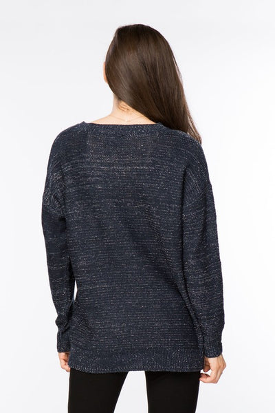 Navy/Silver Sparkle Sweater