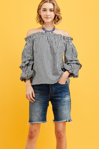 Giddy in Gingham Top