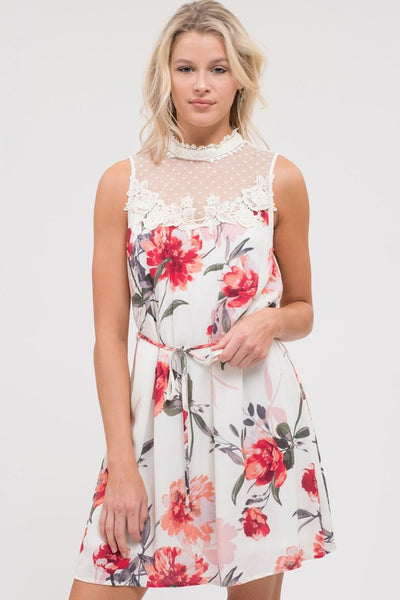 Lovely Lace and Floral Dress