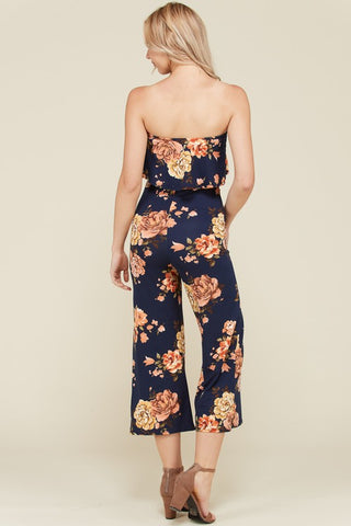 Floral Knit Long Romper