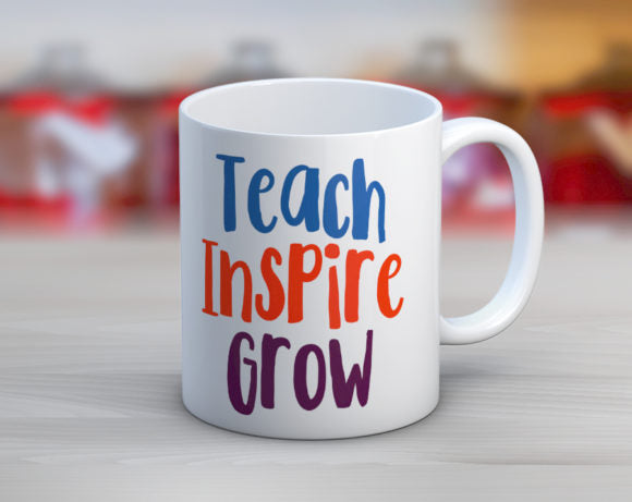 Quotable Life - Teach Inspire Grow Coffee Mug