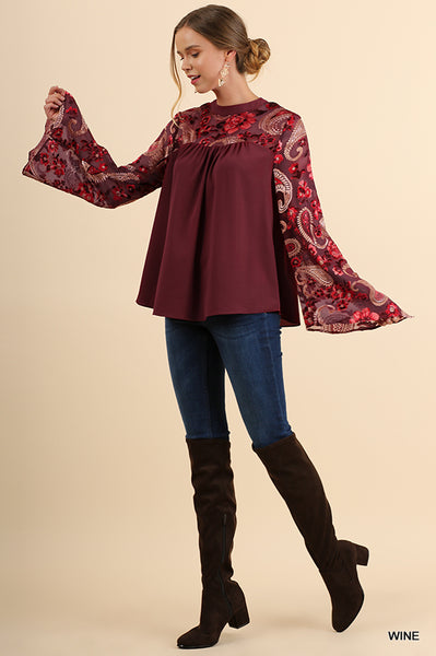 Floral and Paisley Top