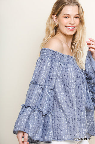 Boho In Blue Top