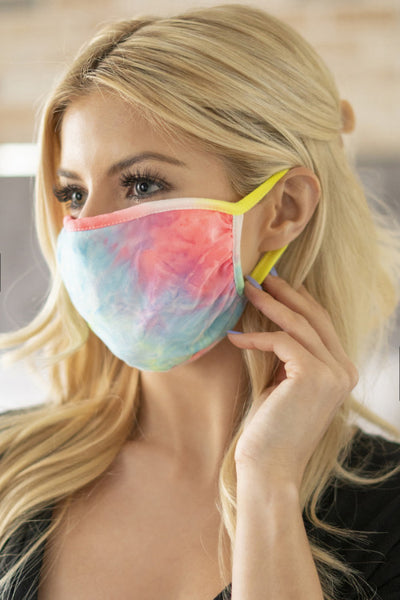 Pastel Tie Dye Reusable Face Mask