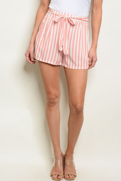 Blush and Pink Striped Shorts