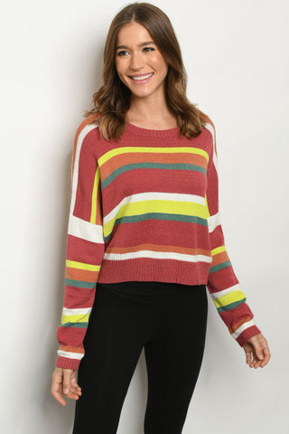 Fall Multi Striped Sweater