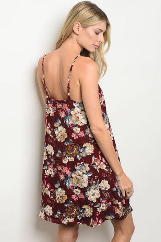 Wine About Me Floral Dress
