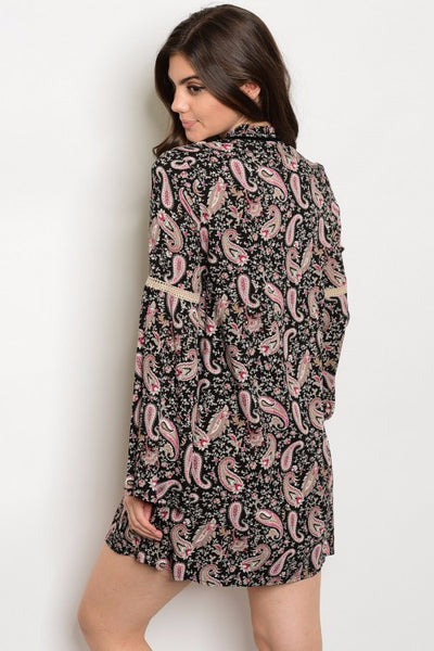 Perfect in Paisley Long Sleeve Dress
