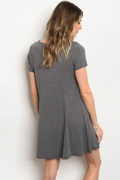 Right On Ribbed Knit Dress