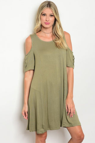 All About Olive Cold Shoulder Dress