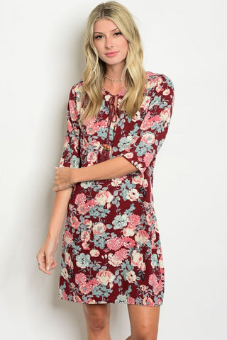 Favorite Fall Floral Dress