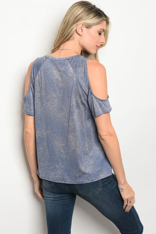 Marvelous in Indigo Mineral Wash Top