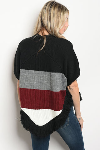 Cool in Color Block Cardigan