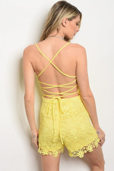 Yellow? Are You There Romper