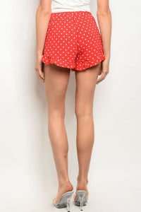 Red and White Polka Dot Shorts