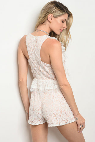 White Blush Romper