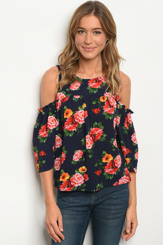 Flowy and Fun Cold Shoulder Top