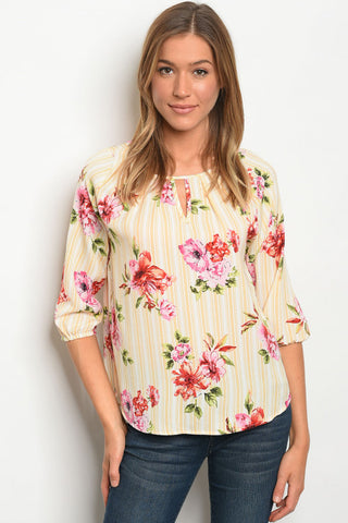 Mellow Yellow Floral Top