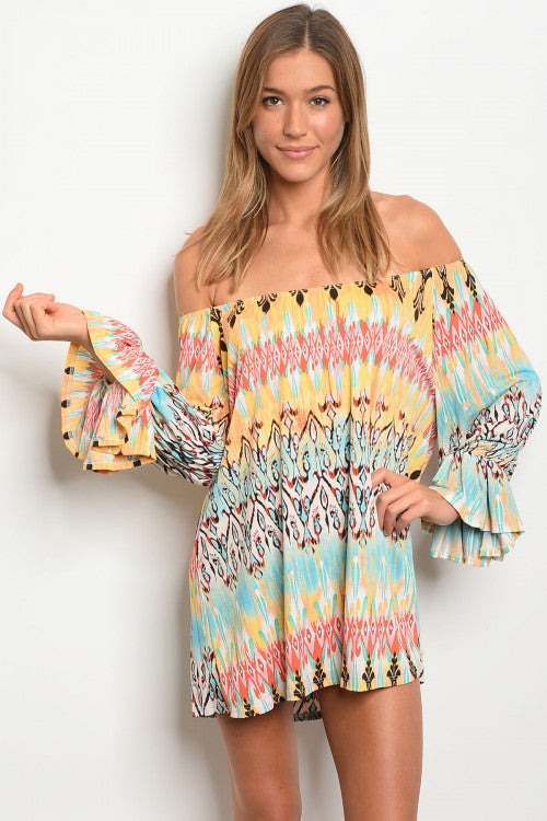 Totally Tribal Print Tunic Top