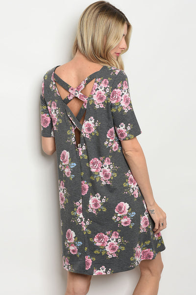 Great in Gray Floral Dress