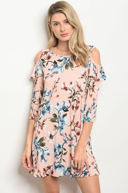 Ruffled by the Cold Shoulder Dress