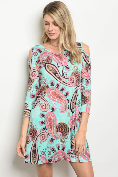 Mint and Paisley Dress