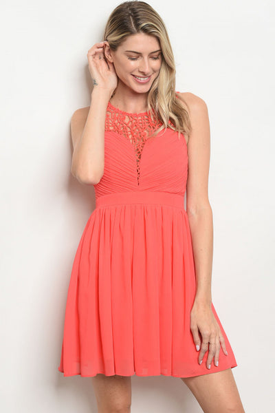 Caught in Coral Dress