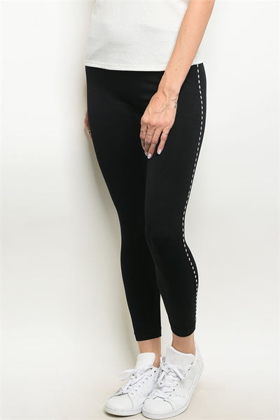 Black Studded Leggings
