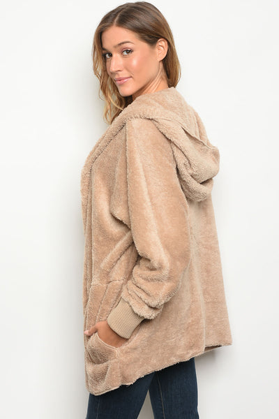 Surely Sherpa Jacket - Taupe