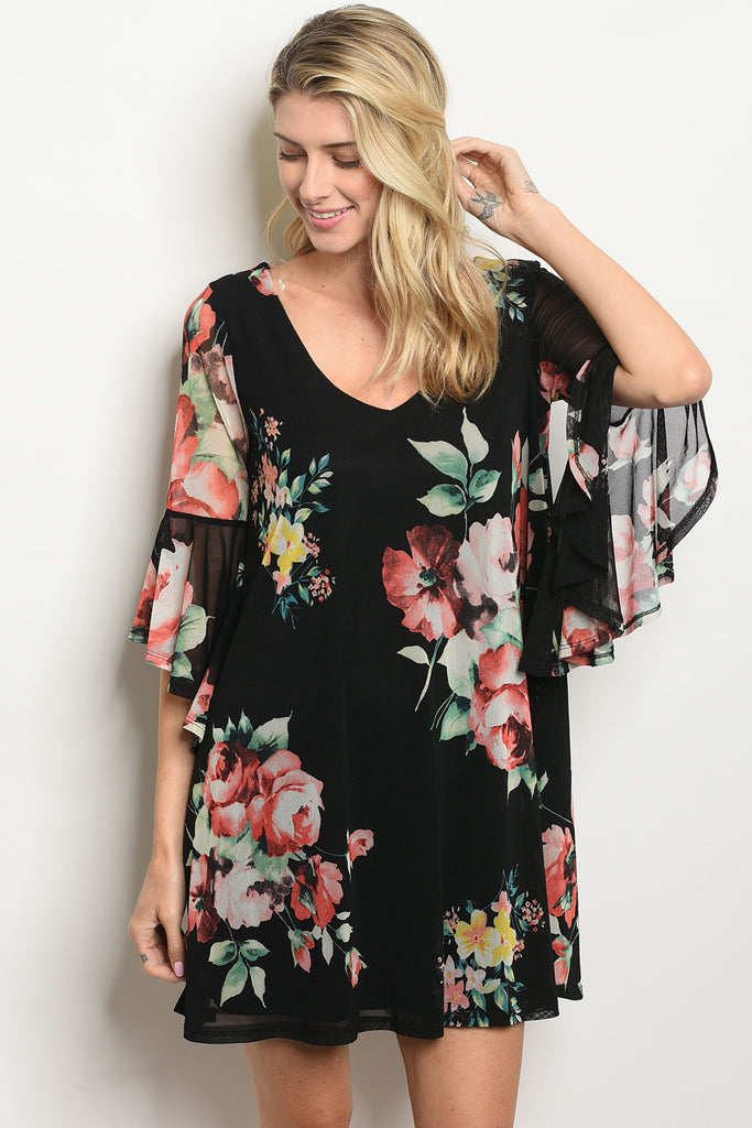 Be Bold in Bell Sleeves Dress